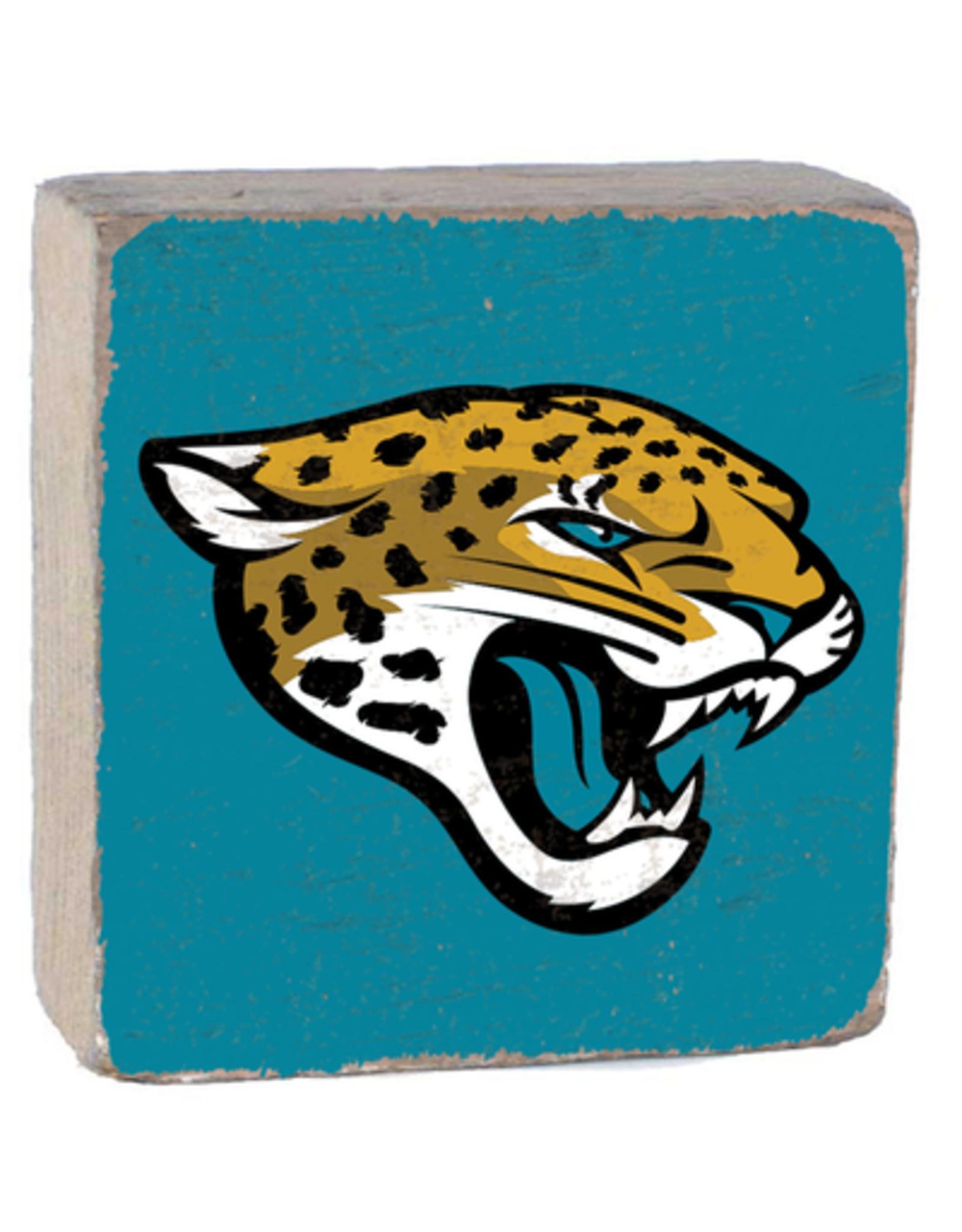 RUSTIC MARLIN Jacksonville Jaguars Rustic Wood Team Block