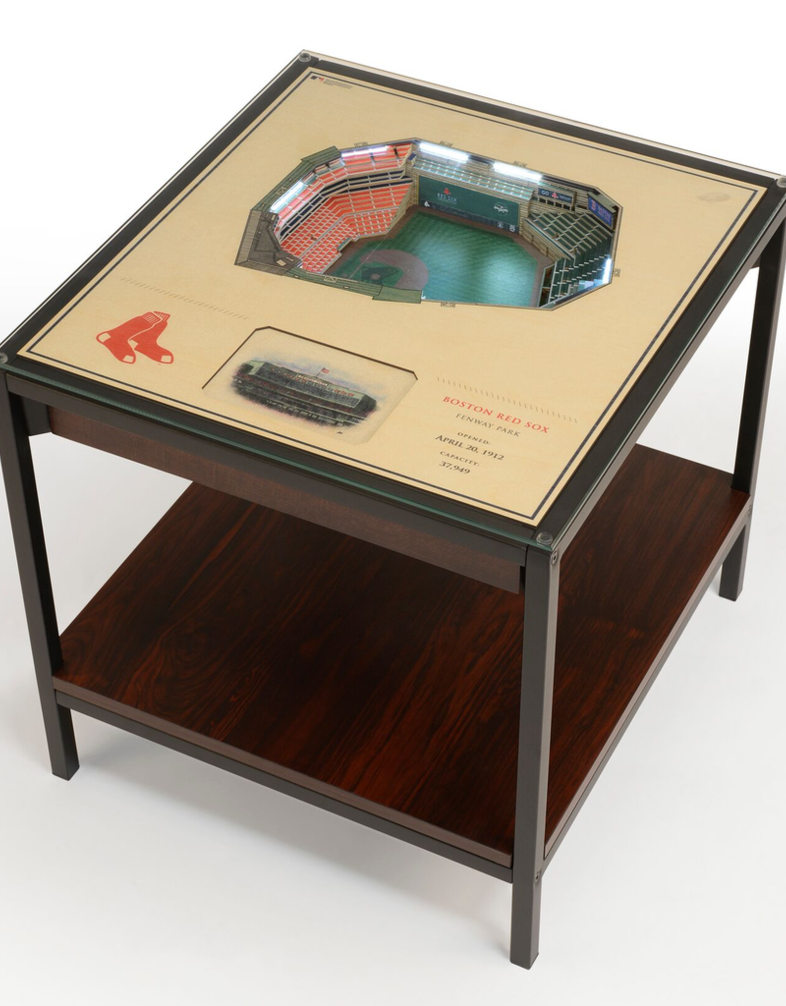 YOU THE FAN Boston Red Sox LED Lighted Stadium View End Table