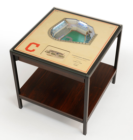 YOU THE FAN Cleveland Indians LED Lighted Stadium View End Table