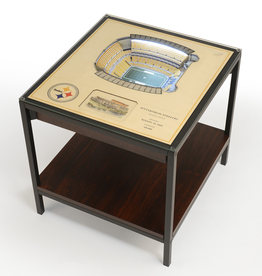YOU THE FAN Pittsburgh Steelers LED Lighted Stadium View End Table