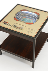 YOU THE FAN Denver Broncos LED Lighted Stadium View End Table