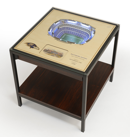 YOU THE FAN Baltimore Ravens LED Lighted Stadium View End Table