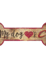 FAN CREATIONS Cleveland Cavaliers Dog Bone Wood Sign
