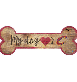 FAN CREATIONS Cleveland Cavaliers Dog Bone Wood Sign