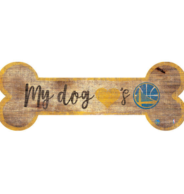 FAN CREATIONS Golden State Warriors Dog Bone Wood Sign