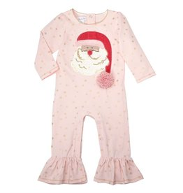 Santa Baby Girls Ruffle Jumpsuit