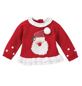 Ruffle Santa Sweater