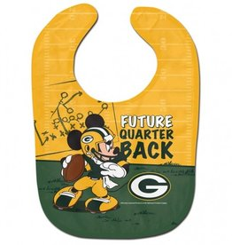 WINCRAFT Green Bay Packers Disney Mickey Mouse Baby Bib
