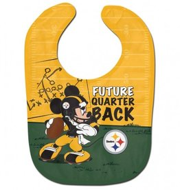 WINCRAFT Pittsburgh Steelers Disney Mickey Mouse Baby Bib