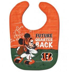 WINCRAFT Cincinnati Bengals Disney Mickey Mouse Baby Bib