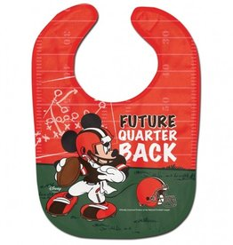 WINCRAFT Cleveland Browns Disney Mickey Mouse Baby Bib