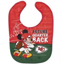 WINCRAFT Kansas City Chiefs Disney Mickey Mouse Baby Bib