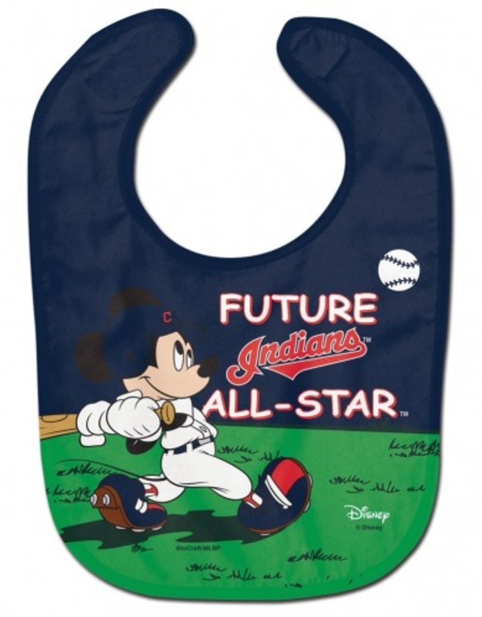 WINCRAFT Cleveland Indians Disney Mickey Mouse Baby Bib