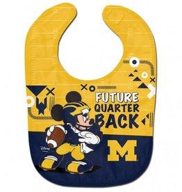 WINCRAFT Michigan Wolverines Disney Mickey Mouse Baby Bib
