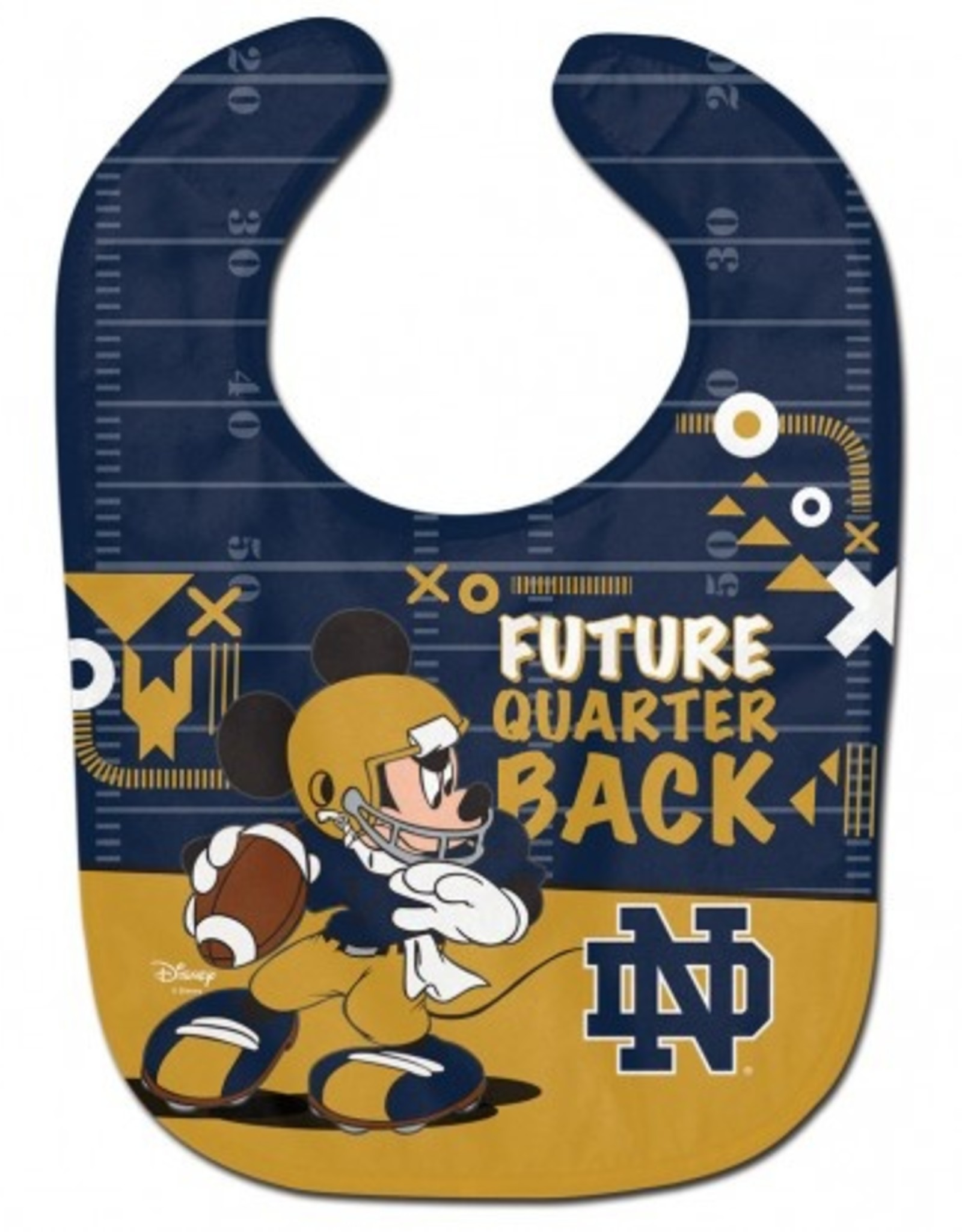 WINCRAFT Notre Dame Fighting Irish Disney Mickey Mouse Baby Bib