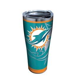 Miami Dolphins TERVIS 30oz Stainless Steel Rush Tumbler