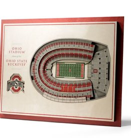 YOU THE FAN Ohio State Buckeyes 5-Layer 3D Stadium Wall Art