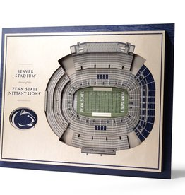 YOU THE FAN Penn State Nittany Lions 5-Layer 3D Stadium Wall Art