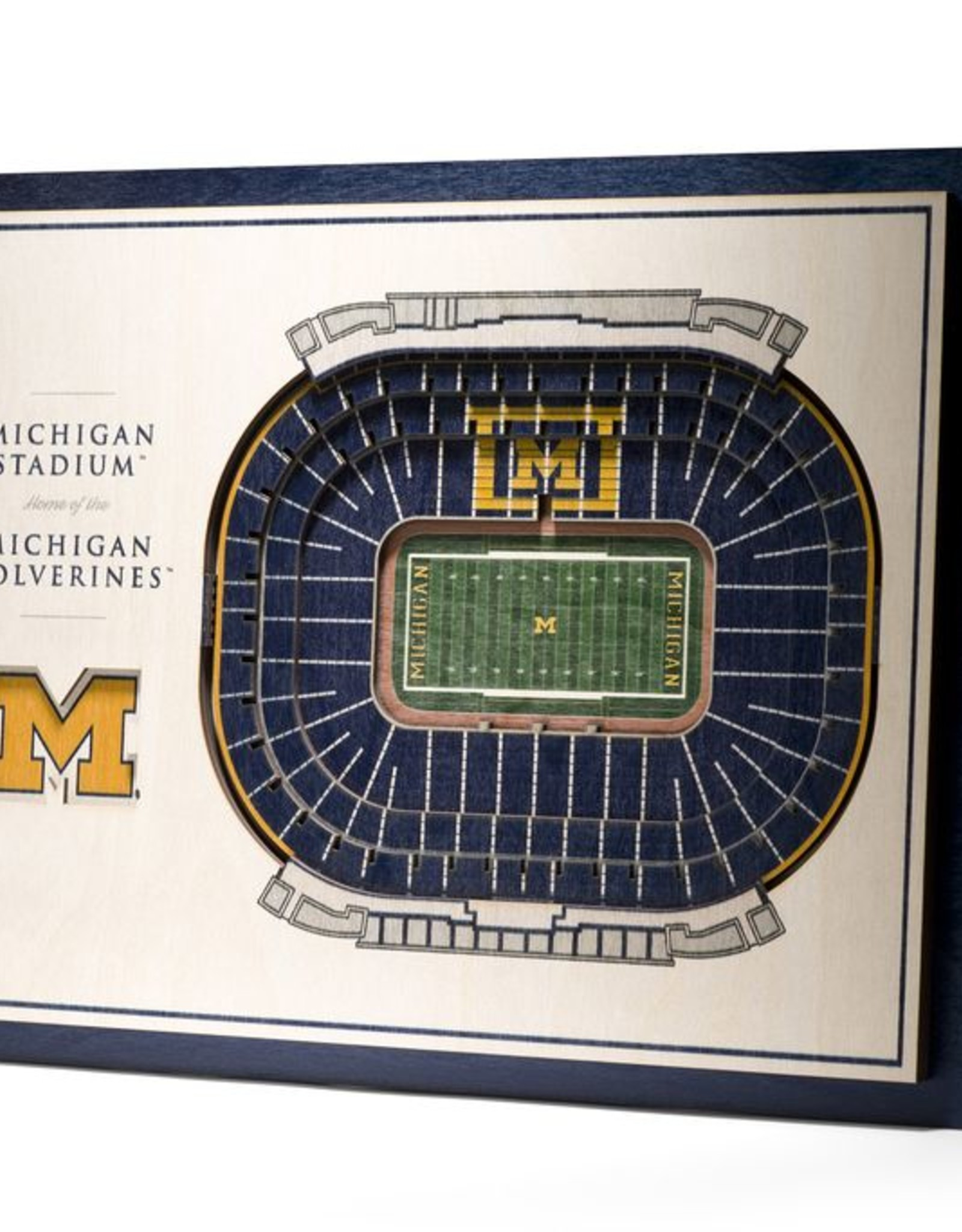 YOU THE FAN Michigan Wolverines 5-Layer 3D Stadium Wall Art