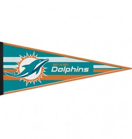 """Miami Dolphins 12""""x30"""" Classic Pennant"""