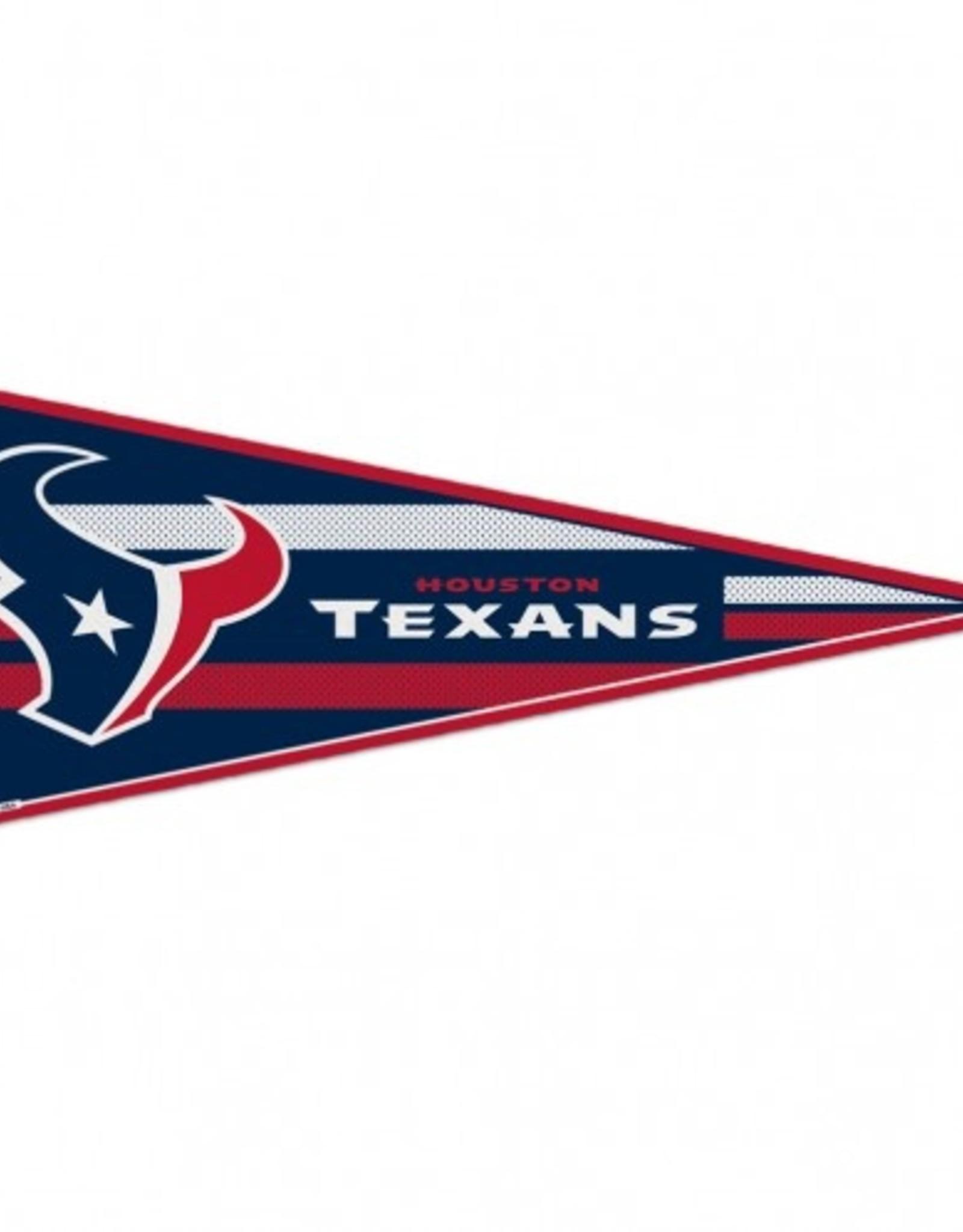"Houston Texans 12""x30"" Classic Pennant"