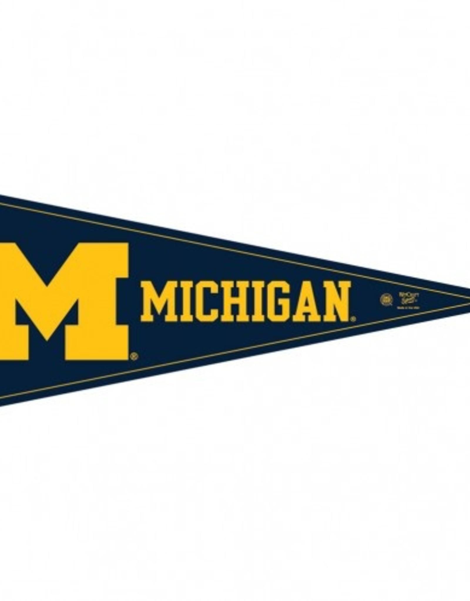 "Michigan Wolverines 12""x30"" Classic Pennant"