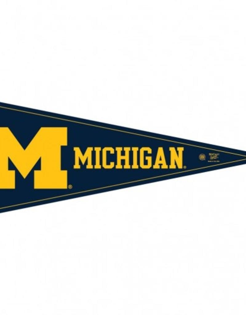 NCAA Michigan Wolverines 12 x 19 In This House Wood Sign