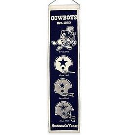 WINNING STREAK SPORTS Dallas Cowboys Heritage Banner