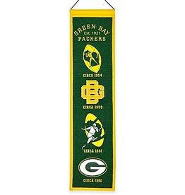 WINNING STREAK SPORTS Green Bay Packers Heritage Banner