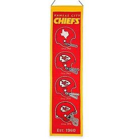 WINNING STREAK SPORTS Kansas City Chiefs Heritage Banner