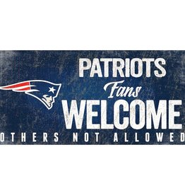 FAN CREATIONS New England Patriots Fans Welcome Sign