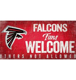 FAN CREATIONS Atlanta Falcons Fans Welcome Sign