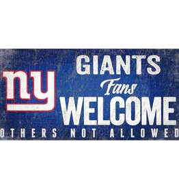 FAN CREATIONS New York Giants Fans Welcome Sign