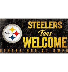 FAN CREATIONS Pittsburgh Steelers Fans Welcome Sign