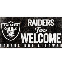 FAN CREATIONS Las Vegas Raiders Fans Welcome Sign