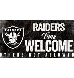 FAN CREATIONS Oakland Raiders Fans Welcome Sign