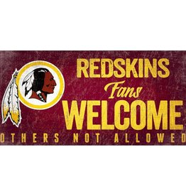 FAN CREATIONS Washington Redskins Fans Welcome Sign