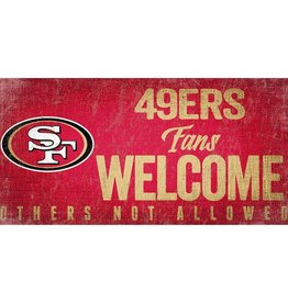 FAN CREATIONS San Francisco 49ers Fans Welcome Sign