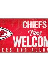 FAN CREATIONS Kansas City Chiefs Fans Welcome Sign