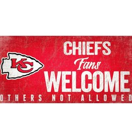 FAN CREATIONS Kansas City Chiefs Fans Welcome Sign
