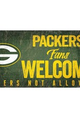 FAN CREATIONS Green Bay Packers Fans Welcome Sign