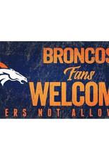 FAN CREATIONS Denver Broncos Fans Welcome Sign
