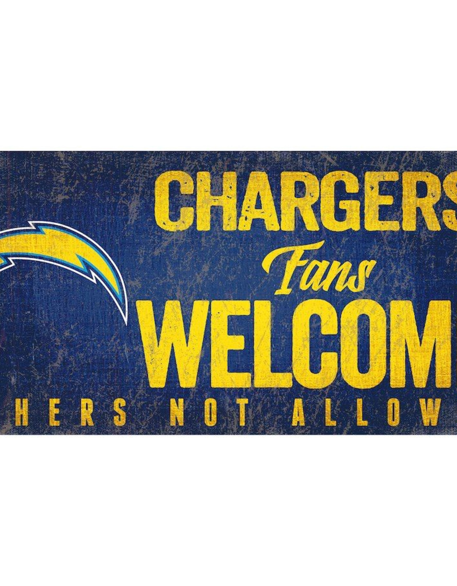 FAN CREATIONS Los Angeles Chargers Fans Welcome Sign
