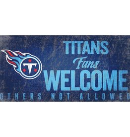 FAN CREATIONS Tennessee Titans Fans Welcome Sign