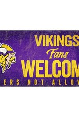 FAN CREATIONS Minnesota Vikings Fans Welcome Sign