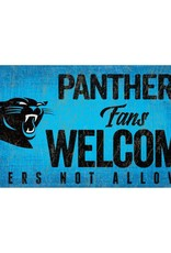 FAN CREATIONS Carolina Panthers Fans Welcome Sign
