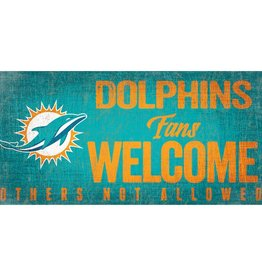 FAN CREATIONS Miami Dolphins Fans Welcome Sign