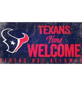 FAN CREATIONS Houston Texans Fans Welcome Sign
