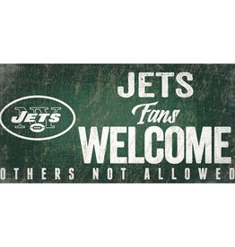 FAN CREATIONS New York Jets Fans Welcome Sign