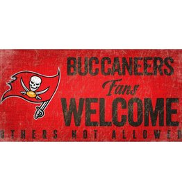 FAN CREATIONS Tampa Bay Buccaneers Fans Welcome Sign